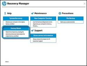HP Recovery Manager Download Free