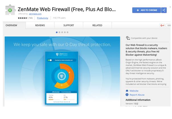 Zenmate Web Firewall Download Free