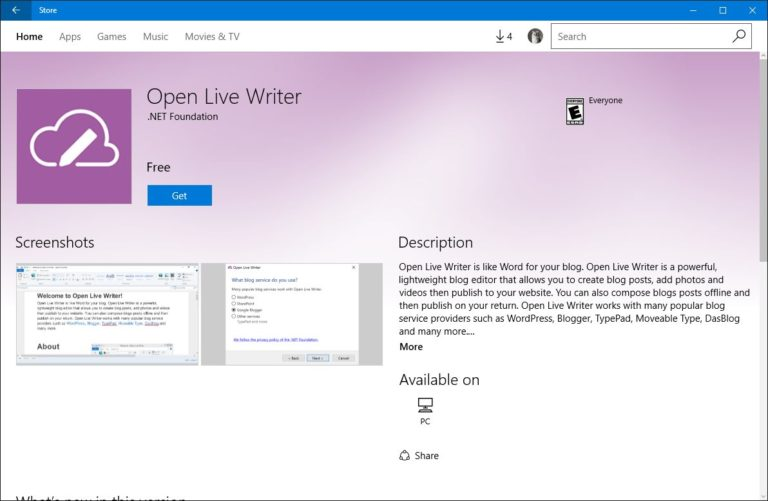 Windows Live Writer Download Free