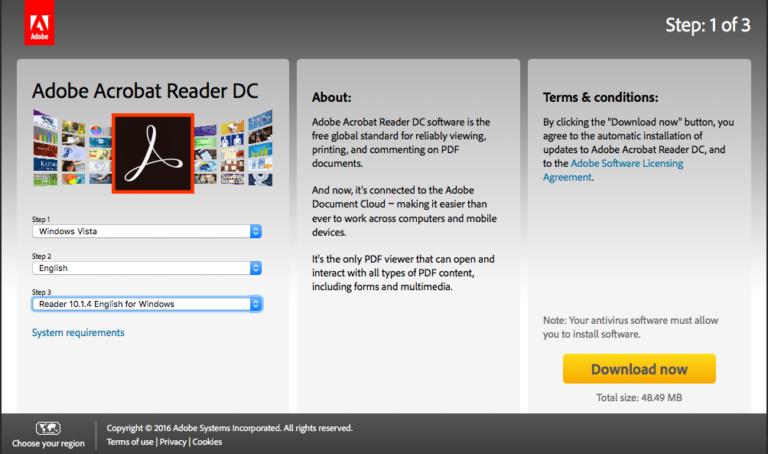 Adobe PDF Reader 32/64 Bit Download