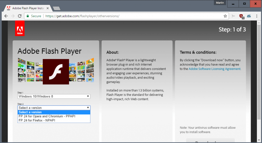 adobe flash player for chrome