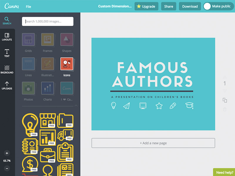 Canva tools for web desingers