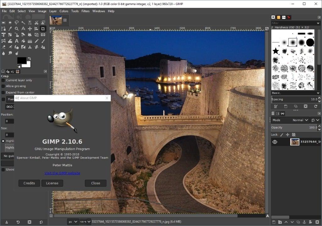 Gimp Tool for web designing