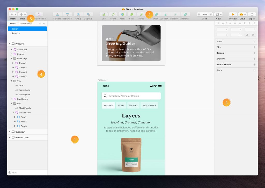 Sketch Tool for web designing