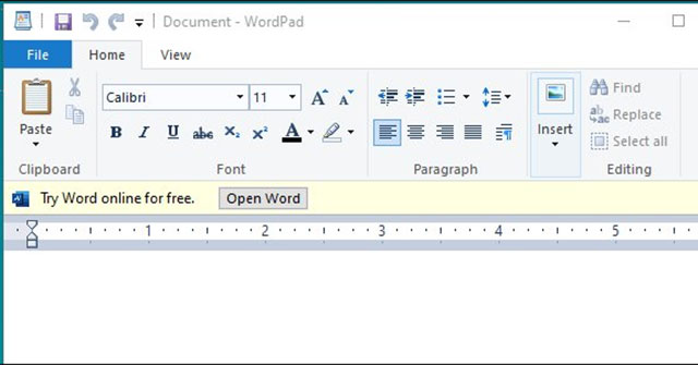 Microsoft WordPad Latest Version Free Download